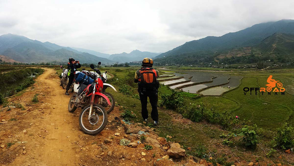 4 days Red River Delta motorbike trip to Southwest of Hanoi by Honda XR150L, CRF150L and CRF250L.