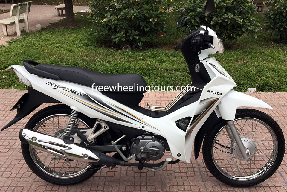 Hidden Vietnam Motorbike Tours - scooters for rent in Hanoi. Honda Blade semi-automatic 110cc