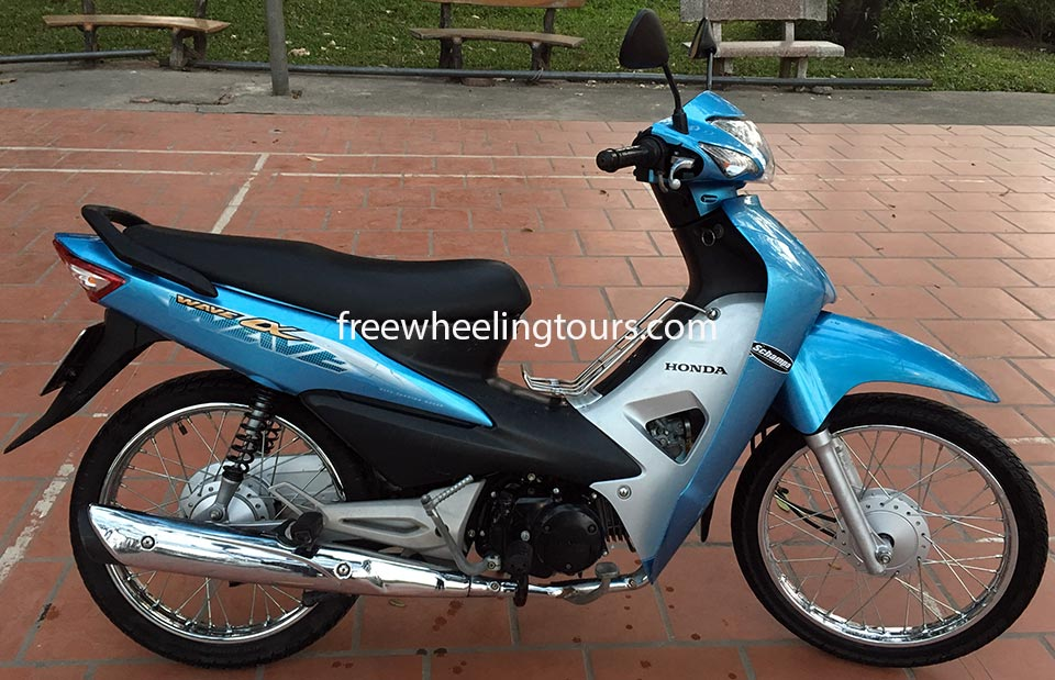 Hidden Vietnam Motorbike Tours - scooters for rent in Hanoi. Honda Wave Alpha semi-automatic 100cc