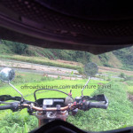 Vietnam dirt bike tours from a helmet view