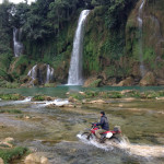 Ban Gioc waterfalls dirt biking
